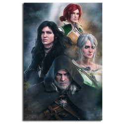 TOILE the witcher 40x60 cm