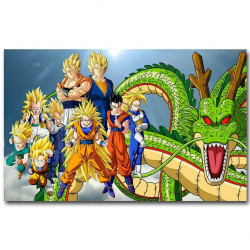 Toile DRAGON BALL   60x90 cm